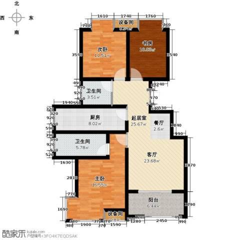 荣盛・香缇澜山3室0厅2卫1厨116.00㎡户型图