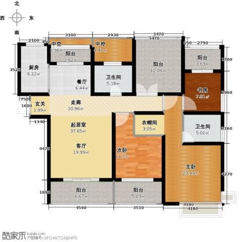 中科苑3室0厅2卫1厨141.00㎡户型图