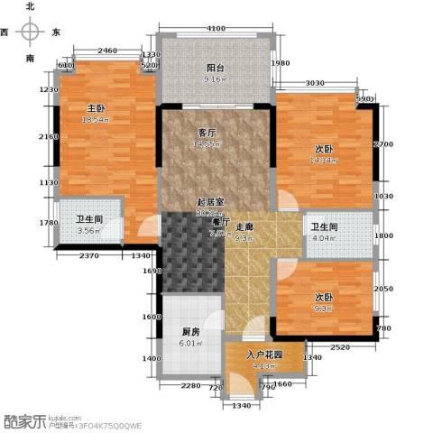 尚城雅苑3室0厅2卫1厨138.00㎡户型图