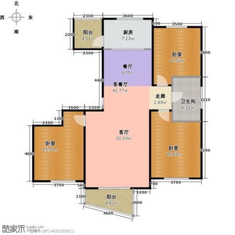 东辰清风港1厅1卫1厨115.00㎡户型图