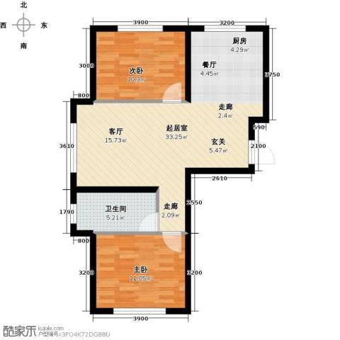 中顺福苑2室0厅1卫0厨84.00㎡户型图