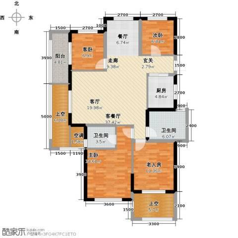云峰苑4室1厅2卫1厨125.72㎡户型图