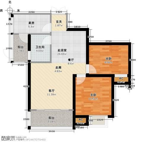 康城上品2室0厅1卫1厨84.00㎡户型图