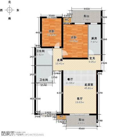尚层名筑2室0厅2卫1厨124.00㎡户型图