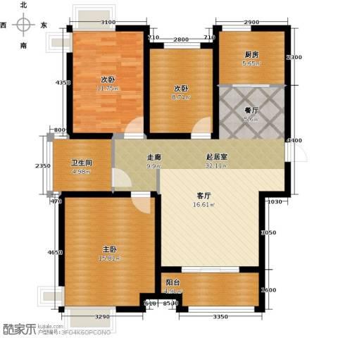 凤凰水城3室0厅1卫1厨126.00㎡户型图