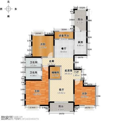 徽盐世纪广场3室0厅2卫1厨150.00㎡户型图
