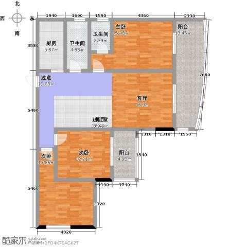 昌泰千秋大厦3室0厅2卫1厨131.00㎡户型图
