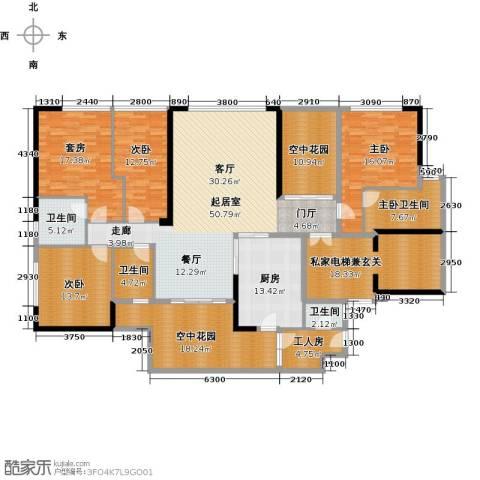 华贸中心3室0厅3卫1厨230.00㎡户型图