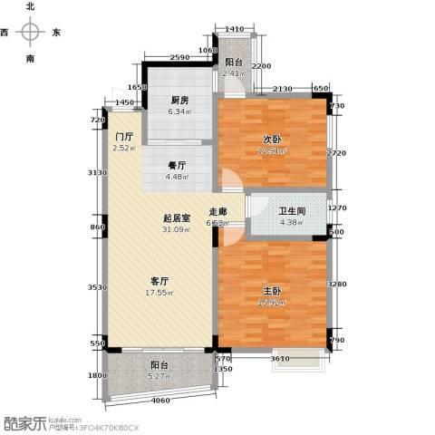 梧桐大厦2室0厅1卫1厨89.00㎡户型图