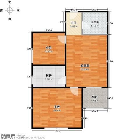 侯河铭品尚江南2室0厅1卫1厨74.00㎡户型图