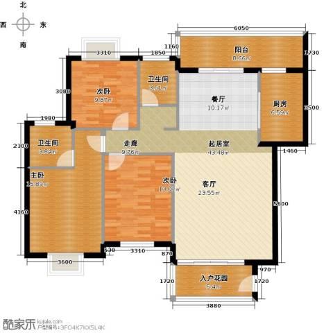 荣泰半山御景3室0厅2卫1厨154.00㎡户型图