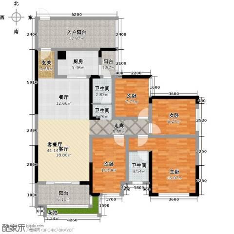 彰泰峰誉4室1厅2卫1厨140.36㎡户型图