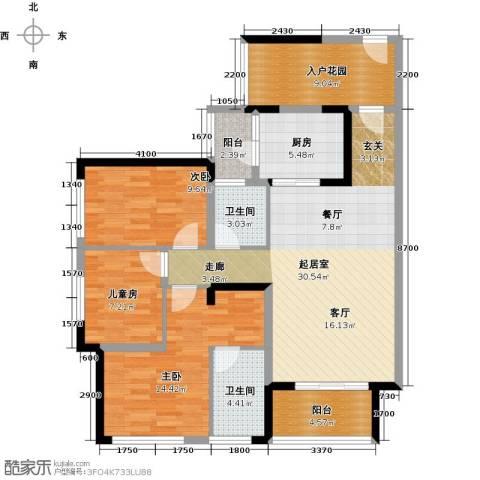 大欣城3室0厅2卫1厨114.00㎡户型图