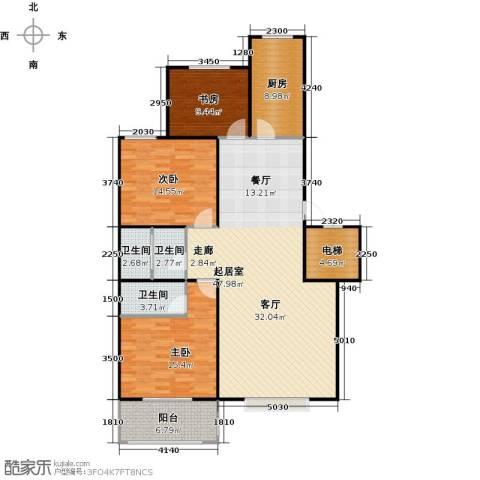 屹立卓郡3室0厅3卫1厨125.00㎡户型图