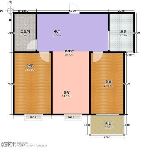 东泽园1厅1卫1厨95.00㎡户型图