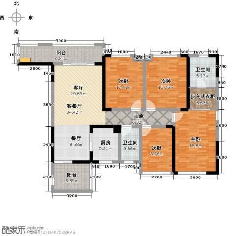 彰泰峰誉4室1厅2卫1厨138.55㎡户型图