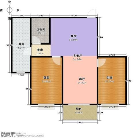 东泽园1厅1卫1厨98.00㎡户型图