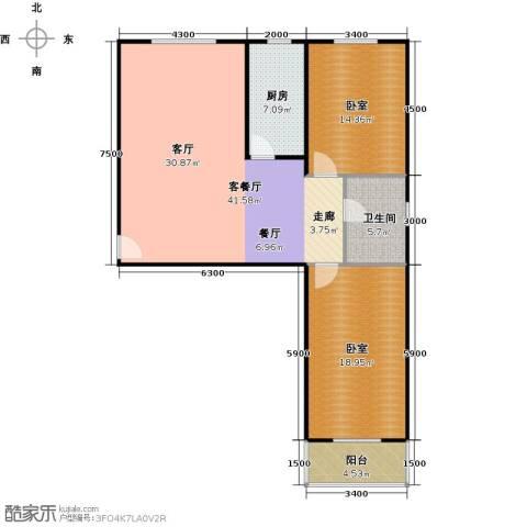 东泽园1厅1卫1厨122.00㎡户型图