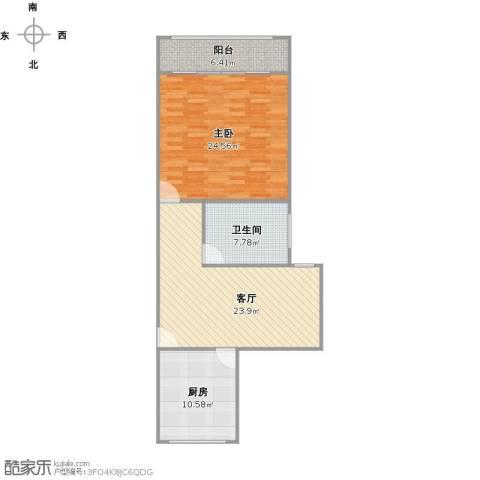 水电路1381弄小区1室1厅1卫1厨98.00㎡户型图