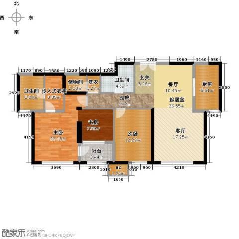 金地紫云庭2室0厅2卫1厨140.00㎡户型图