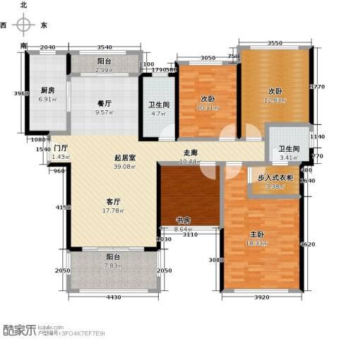 君华硅谷4室0厅2卫1厨134.00㎡户型图