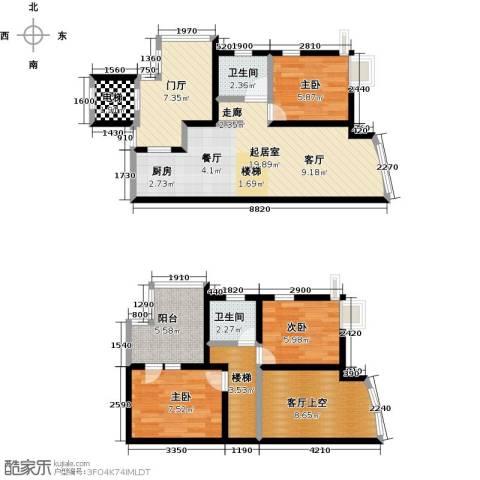 泊渡3室0厅2卫0厨104.00㎡户型图