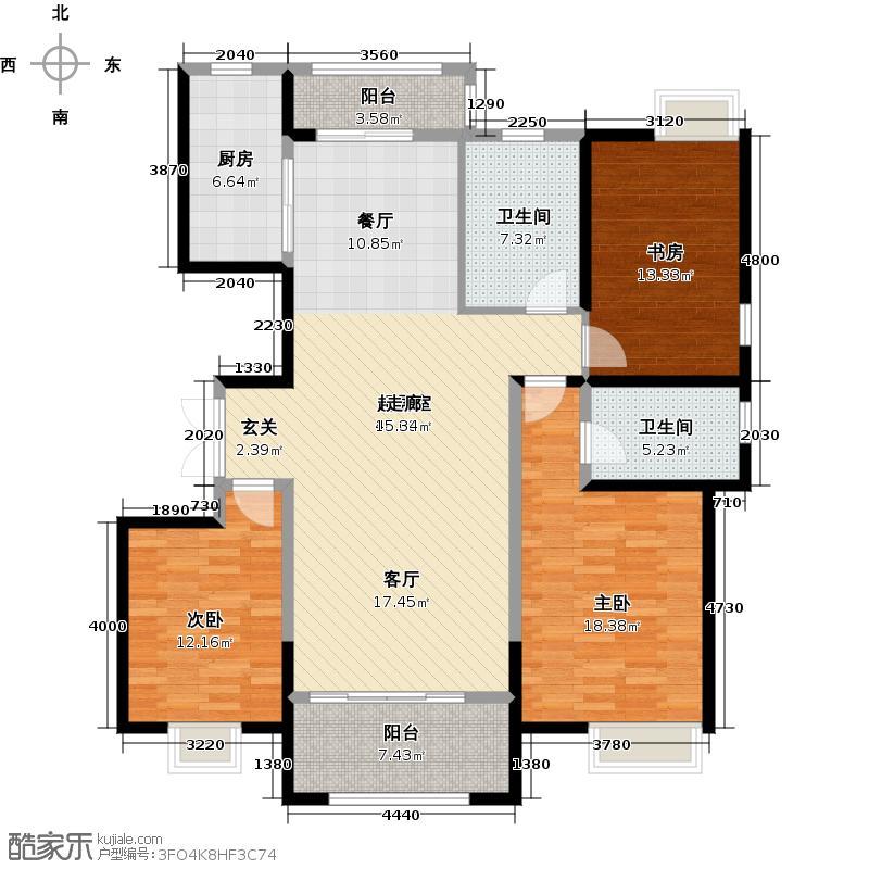 威高花园140.00㎡悦景台4期户型3室2厅2卫