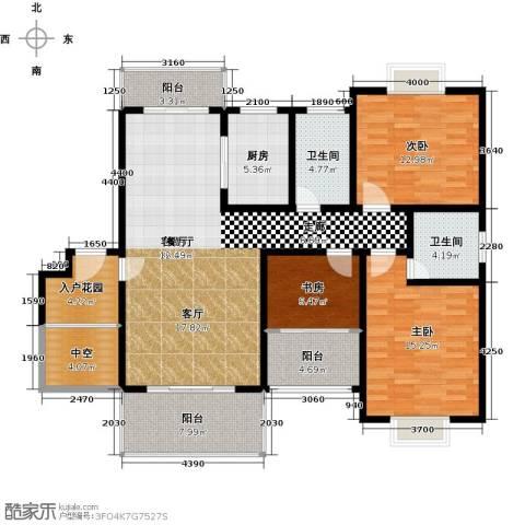名扬鑫城3室1厅2卫1厨156.00㎡户型图