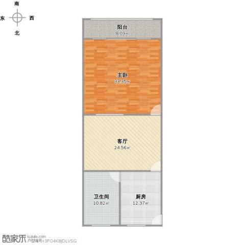 幸福第一公寓1室1厅1卫1厨118.00㎡户型图