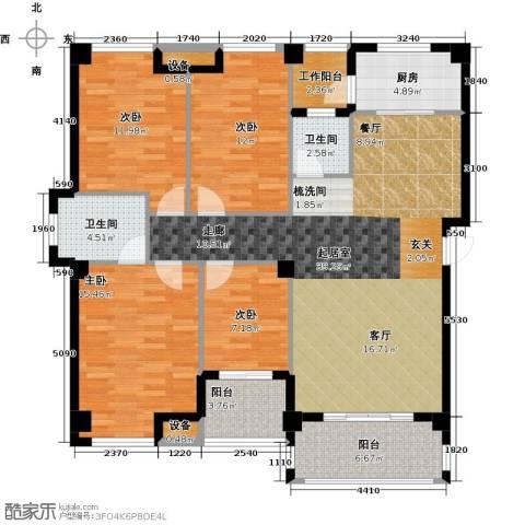 莱茵国际4室0厅2卫1厨158.00㎡户型图