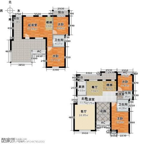 恒信中央公园4室0厅3卫1厨202.00㎡户型图