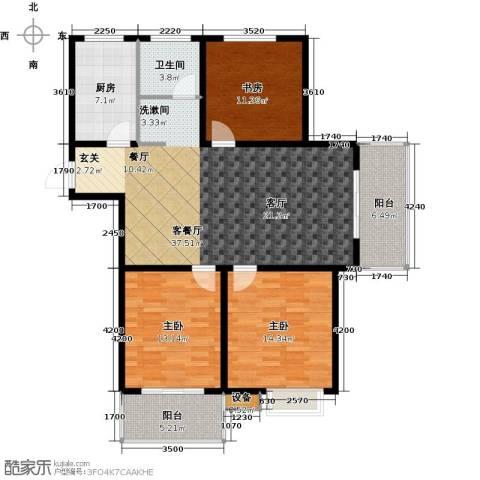 城置国际花园城3室1厅1卫1厨138.00㎡户型图