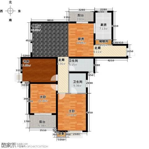 城置国际花园城3室1厅2卫1厨164.00㎡户型图
