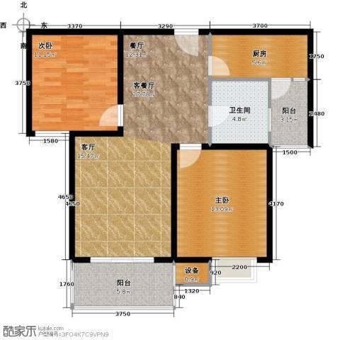 城置国际花园城2室1厅1卫1厨101.00㎡户型图