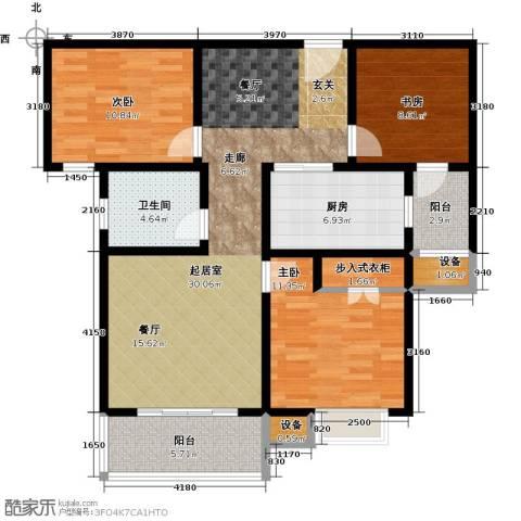 城置国际花园城3室0厅1卫1厨122.00㎡户型图