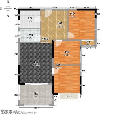 尚城雅苑3室0厅1卫1厨116.00㎡户型图