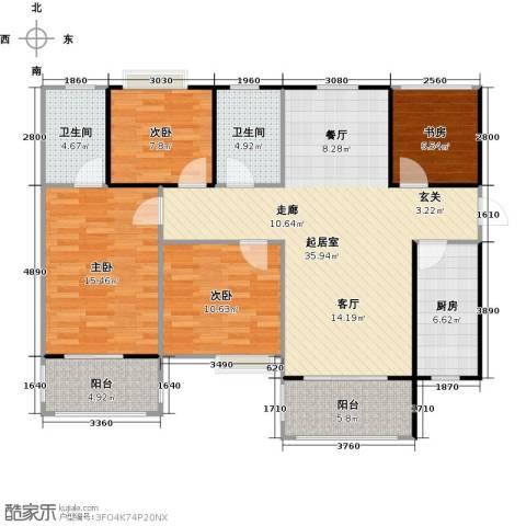 左岸骏景4室0厅2卫1厨139.00㎡户型图