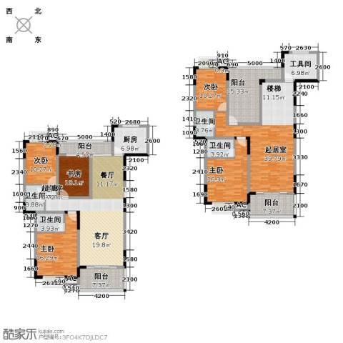 梓湖东城5室0厅4卫1厨299.00㎡户型图
