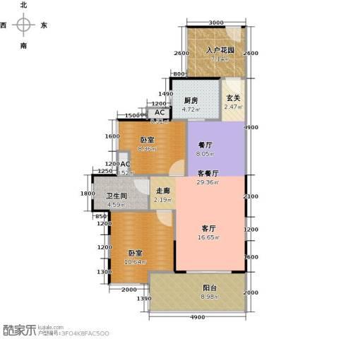 城央一品1厅1卫1厨101.00㎡户型图