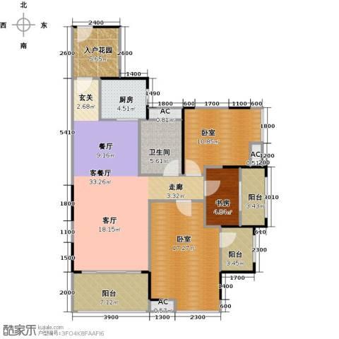 城央一品1室1厅1卫1厨133.00㎡户型图