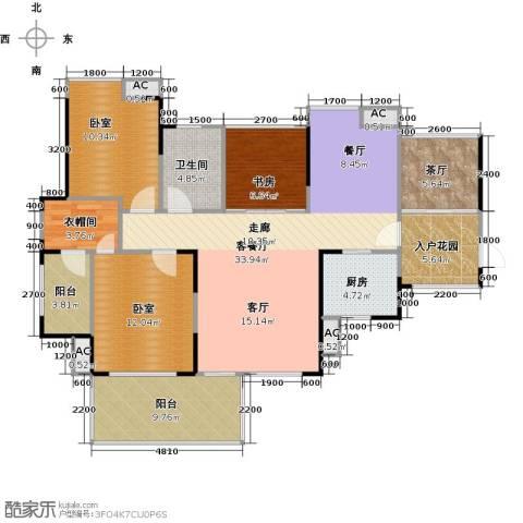 城央一品1室1厅1卫1厨141.00㎡户型图