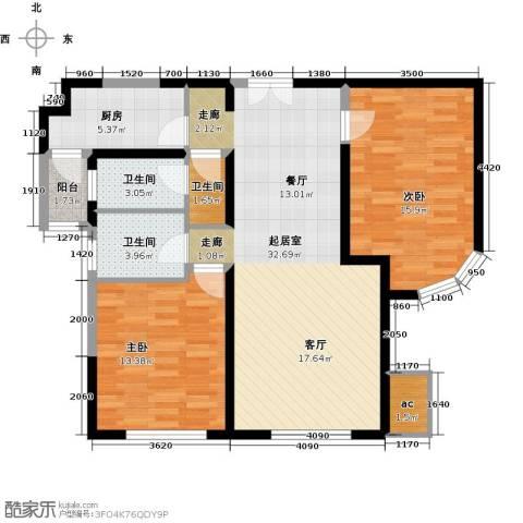 金地紫云庭2室0厅3卫1厨110.00㎡户型图