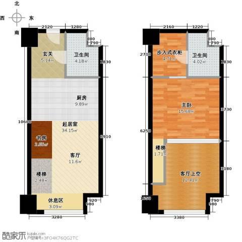 金地紫云庭1室0厅2卫0厨75.16㎡户型图