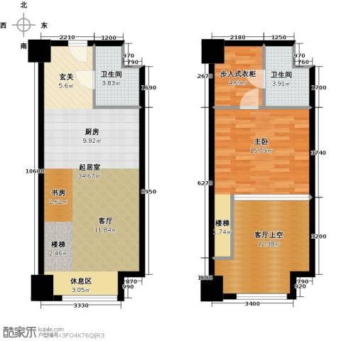金地紫云庭1室0厅2卫0厨75.26㎡户型图