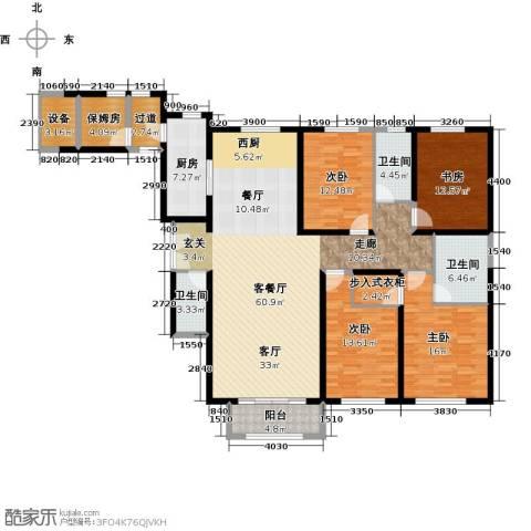 金地紫云庭4室1厅3卫1厨214.00㎡户型图