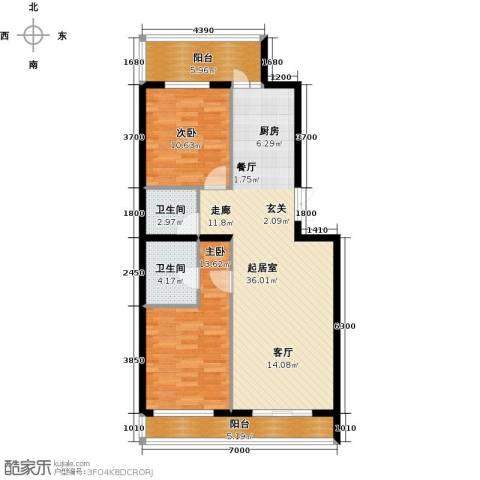 开美国际2室0厅2卫0厨112.00㎡户型图