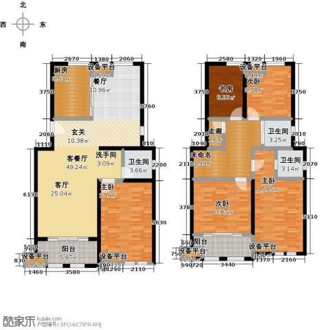 叶与城5室1厅3卫1厨238.00㎡户型图