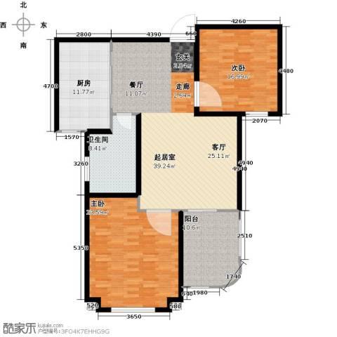 圣博・未来城2室0厅1卫1厨152.00㎡户型图