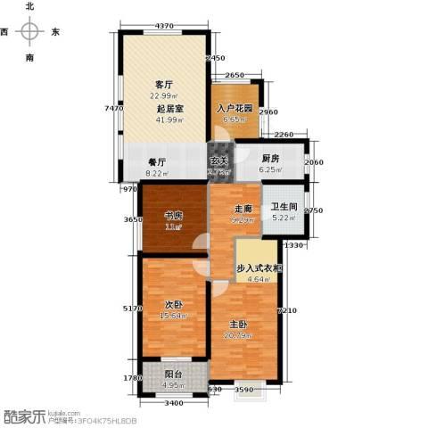金榜府邸3室0厅1卫1厨126.00㎡户型图
