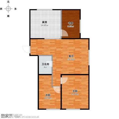 亿合城3室1厅1卫1厨111.00㎡户型图